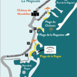 Plan accès La Rague Watersport
